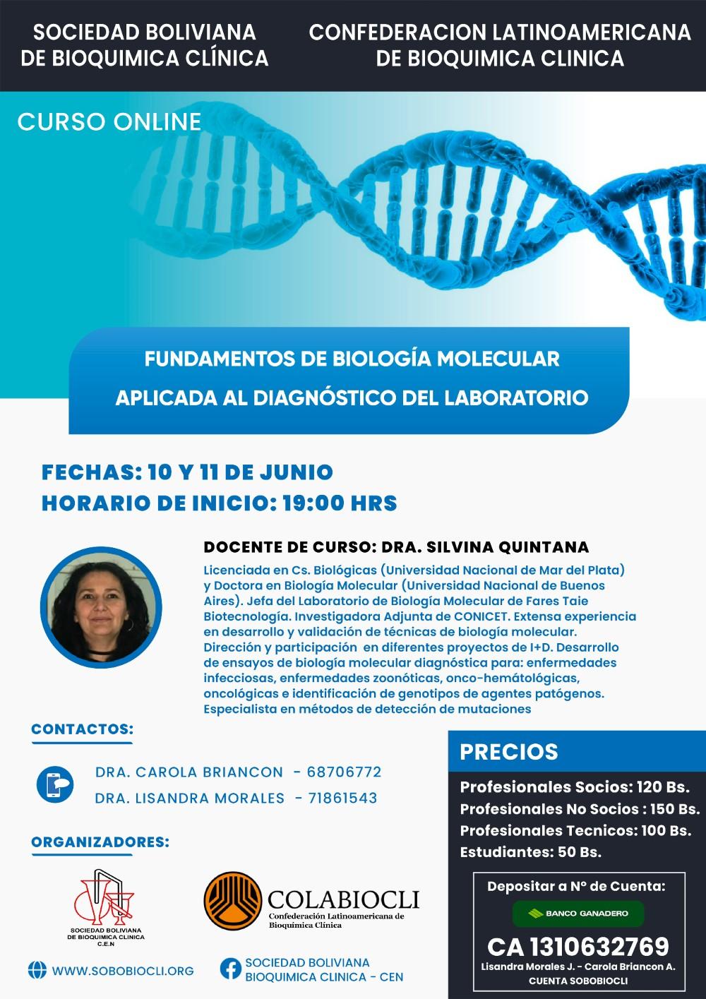 Fundamentos de Biología Molecular Aplicada al Diagnóstico del Laboratorio